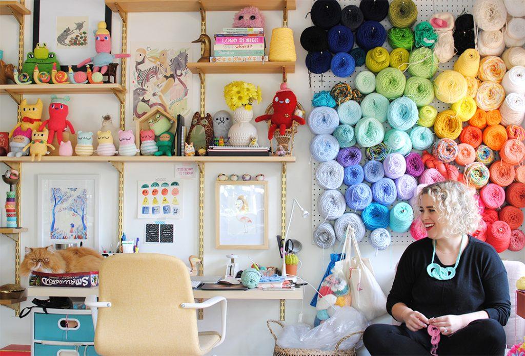 Crocheting in my nook!