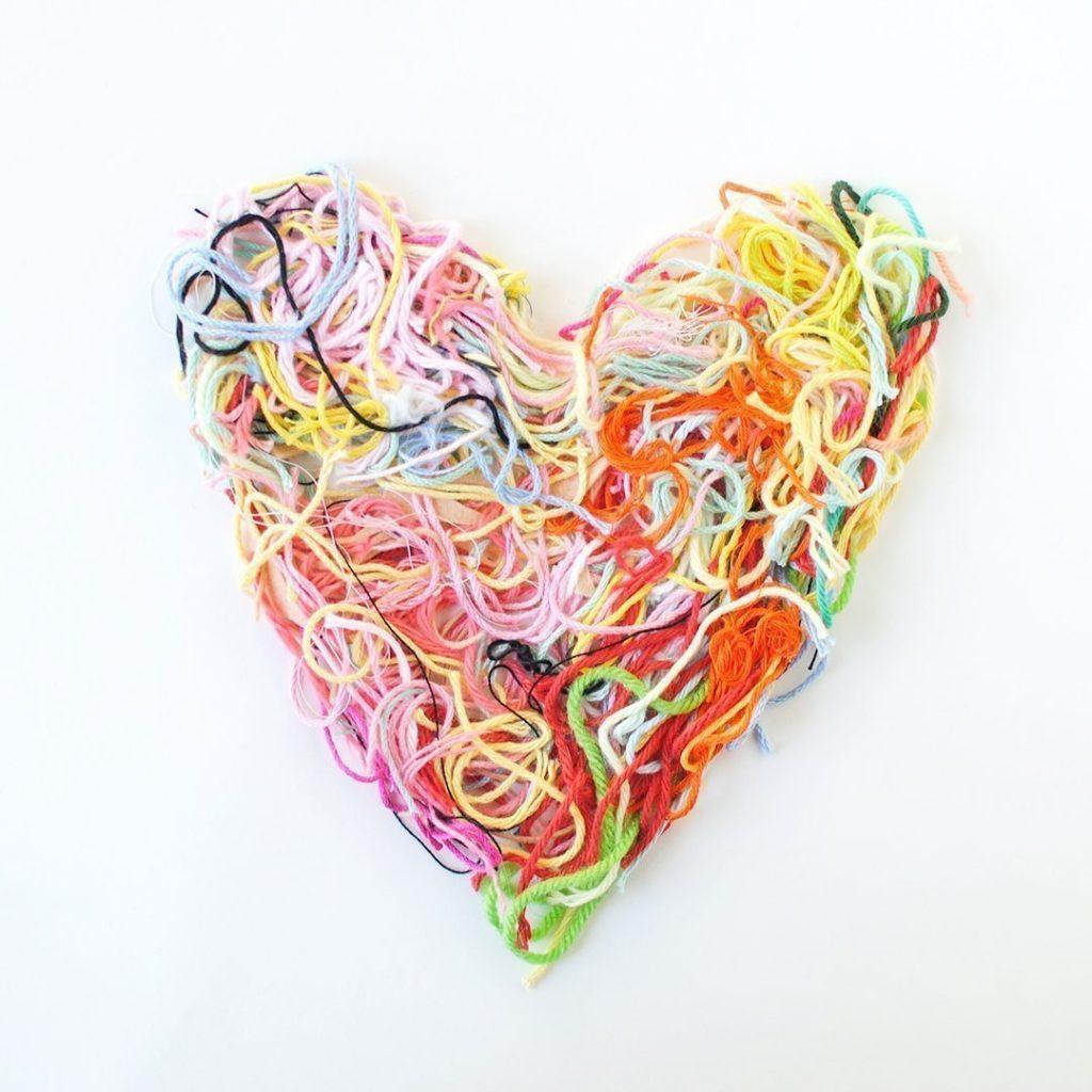 Yarn Scraps Heart