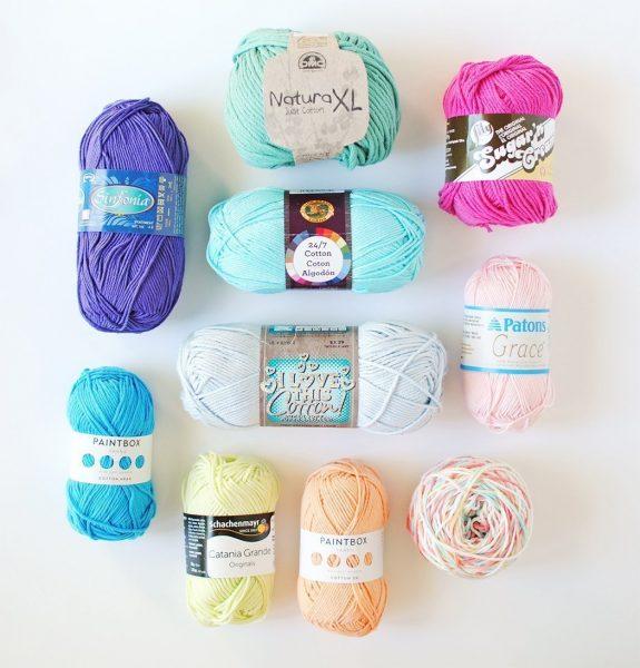 An array of popular cotton yarn