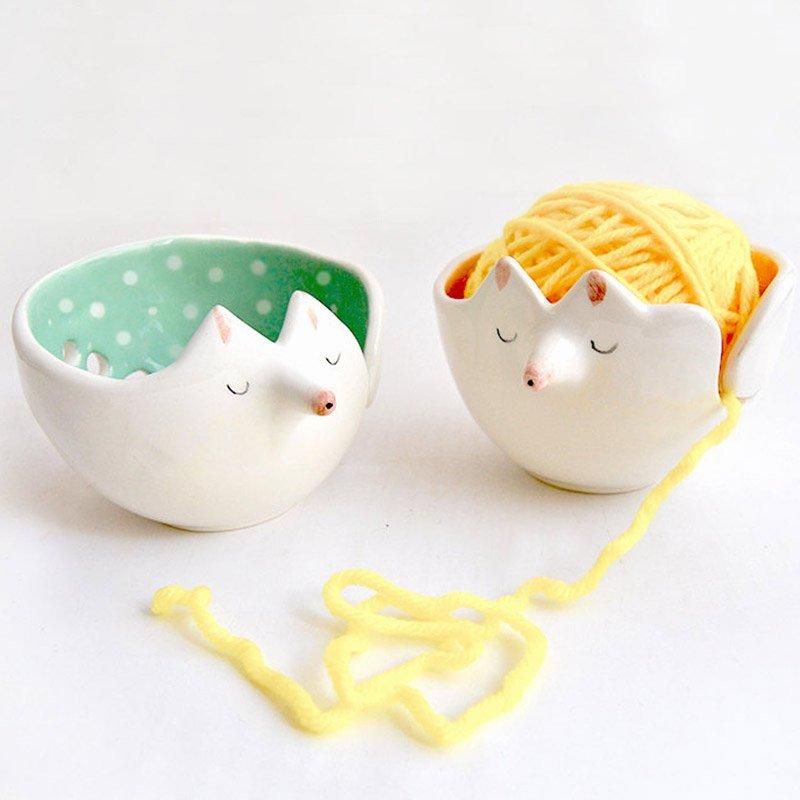 Yarn bowls from Barruntando Ceramics