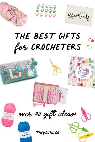 "pinterest graphic with text that says "" the best gifts for crocheters, over 40 gift ideas"""