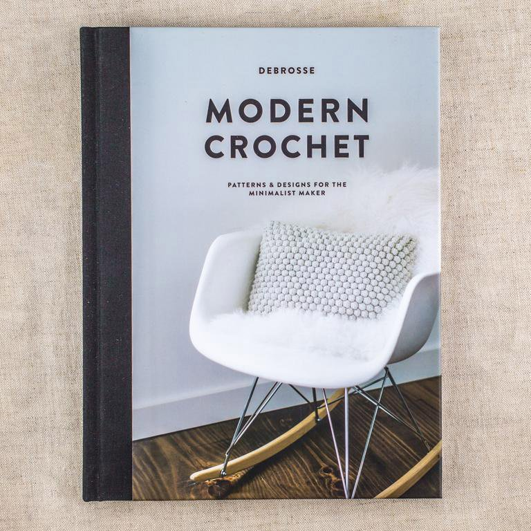 modern crochet book cover