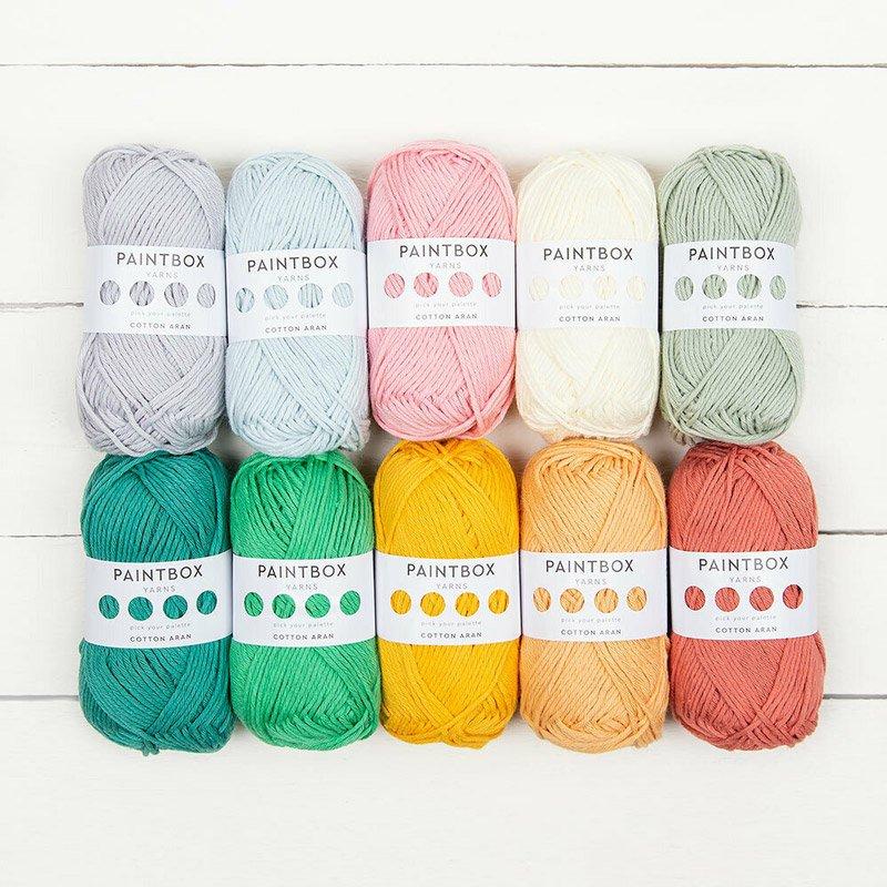 10 balls of Paintbox Yarns Cotton Aran