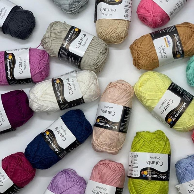 schachenmayr catania yarn balls in a spiral