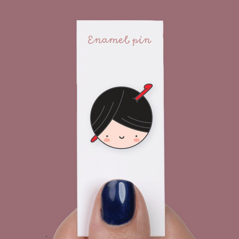 yarn enamel pin