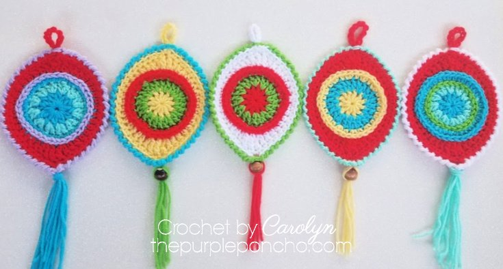 colorful crochet christmas ornaments